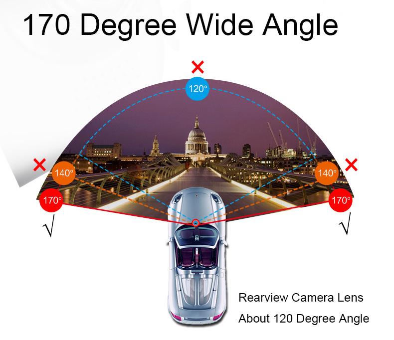 E-ACE Car Dvr 1080P Dual Lens Dash Camera Rear Mirror Digital Recorder With Rearview Camera Video Recorder Camcorder Registrar 9