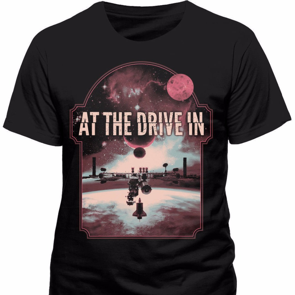 T Shirt Homme 2018 New Graphic Crew Neck At The Drive In - Eclipse T Shirt Size:S - New & Official Short Sleeve Tees For Men