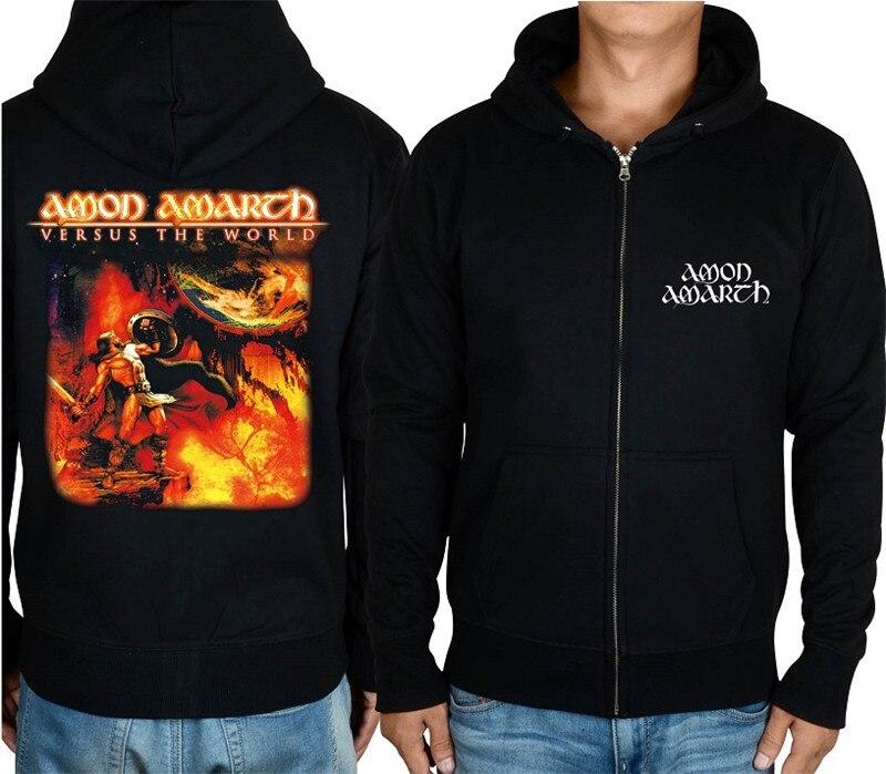 21 конструкции Амон рок молния хлопковые толстовки куртка sudadera панк тяжелый металл 3D череп флис Викинг Толстовка - Цвет: 9