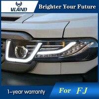 VLAND 2007 2015 задние фонари для Toyota FJ Cruiser светодио дный проектор фары Halo HID лампы Биксеноновая объектив ближнего света с решеткой