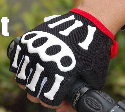 2014 nouveaux gants de vlo 3D squelette cyclisme finger moiti gants 10 paires / gros hommes цены онлайн