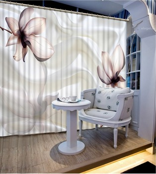 Home Decoration flower 3D Window Curtains For Bedding room Curtains for living room