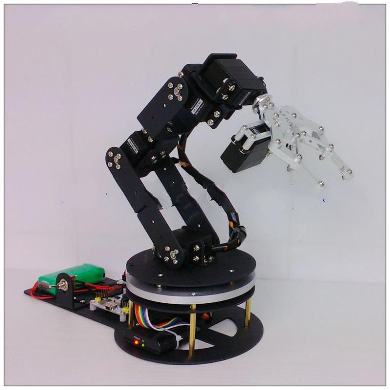 6 degrees of freedom robotic arm / base metal disc