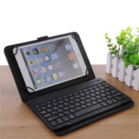 Universal Mobile Bluetooth Keyboard With 4 Hook PU Case Easy To Carry For IPad IPhone Android