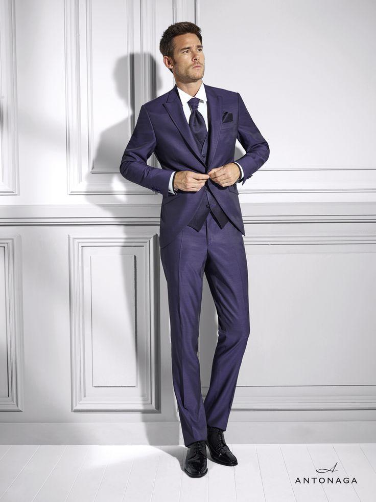 Latest Coat Pant Designs Purple Men Suit Slim Fit Skinny 3 Piece Tuxedo Italian Custom Gentle Groom Party Blazer Terno Masculino