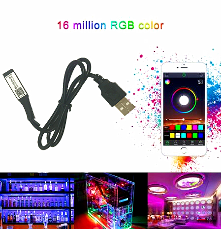 <font><b>TV</b></font> PC Blacklight USB Power 3 Möglichkeiten Bluetooth RGB <font><b>LED</b></font> Licht Controller 5 V 12 V 24 V Mini Wireless dimmer Für 3528 5050 RGB <font><b>LED</b></font> Streifen image