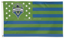 Seattle Sounders FC stripes and stars MLS Flag 3x5FT banner 100D 150X90CM Polyester brass grommets custom66, Free Shipping