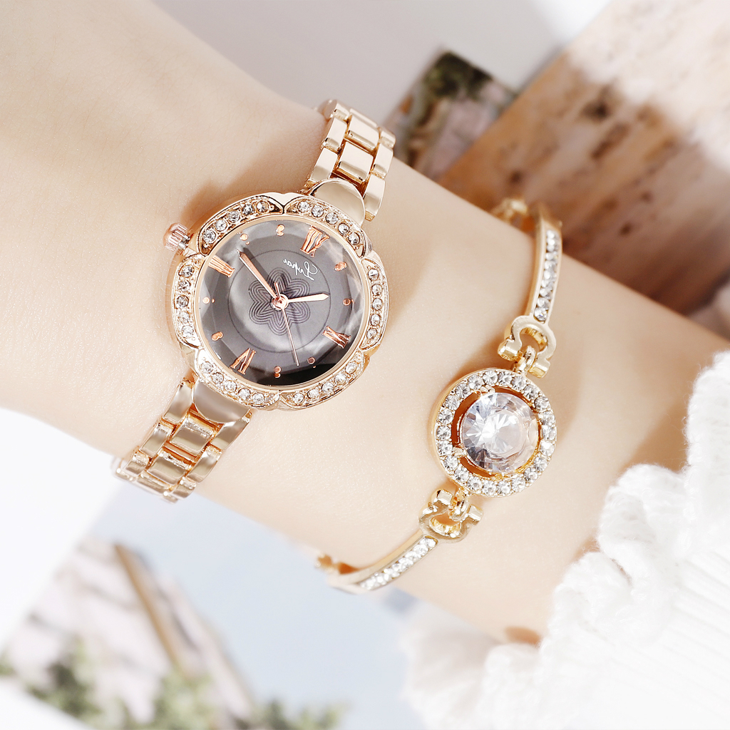 2019 Newest Personality Noble Rhinestone Cuff Bracelets Golden Silver Rose Gold Married Bracelet Women Fashion Jewelry Gift