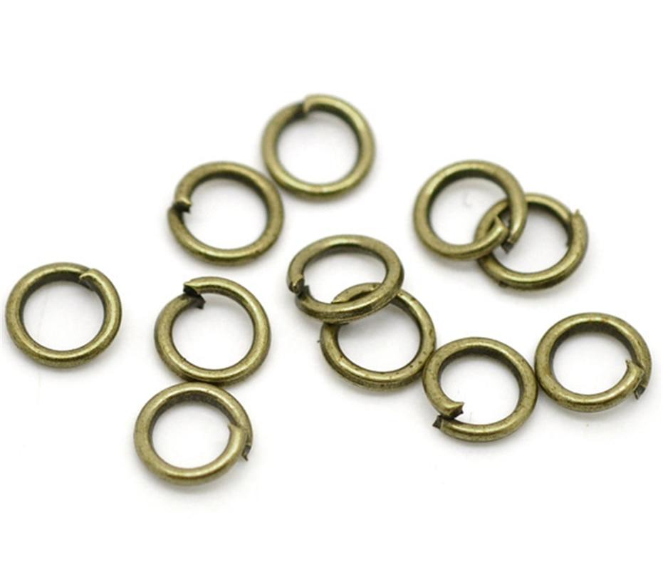 DoreenBeads Antique Bronze Open Jump Rings 5mm(1/4