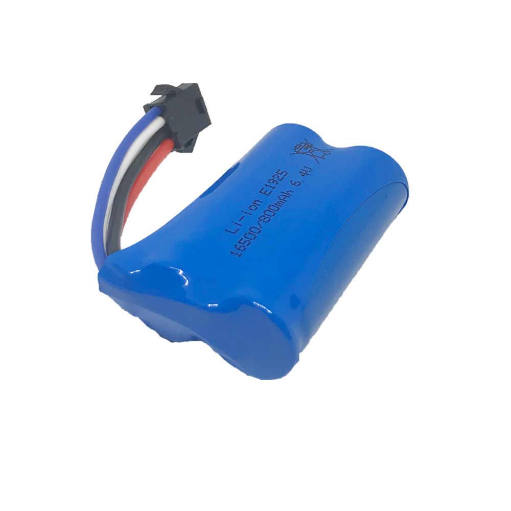 6.4V 800MAh 16500 Baterai Lipo untuk Wltoys 18628 18629 18428 18429 RC Mainan Mobil Suku Cadang 6.4V SM-4P Plug Baterai Ah Li-ion 800M