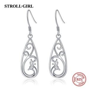 Image 4 - Strollgirl 7 Pairs/set Weekly Earrings 925 Sterling Silver Tree Music Symbol Owl Bat Animal Drop Earrings for Women Jewelry