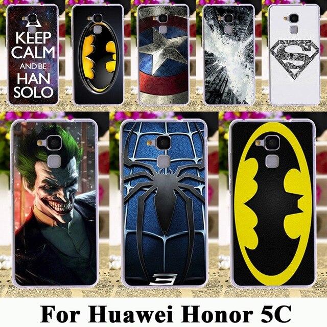 """TAOYUNXI tpu plastic Case For Huawei Honor 5C GT3 Honor 7 Lite Honor5C Honor7 Lite 5.2"""" Case Batman Superman Captain American"""