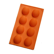 Eggs shape Chocolate Mold 8 Hole Cocoon Diy Silicone Jelly Pudding Mold Large Kitchen Baking Mould Handmade Soap Ice Tray цена и фото
