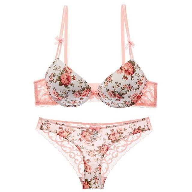Sexy Push Up Bra Panties Underwear Lingerie Set