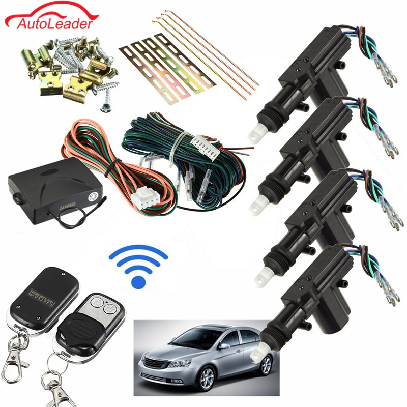 Auto 2/4 Tür Remote Keyless Entry Zentral Locking Kit Universal Auto Fernbedienung Zentrale Kit Türschloss Keyless Entry System