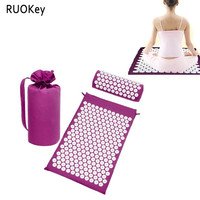 RUOKey Acupressure Relieve Stress Pain Yoga Massager Mat Massager Pillow Natural Relief Stress Tension Body Massage