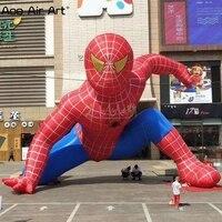 Индивидуальные надувные Человек паук мультфильм модель, выдающийся декоративный мультфильм модель для продвижения и веселых игр