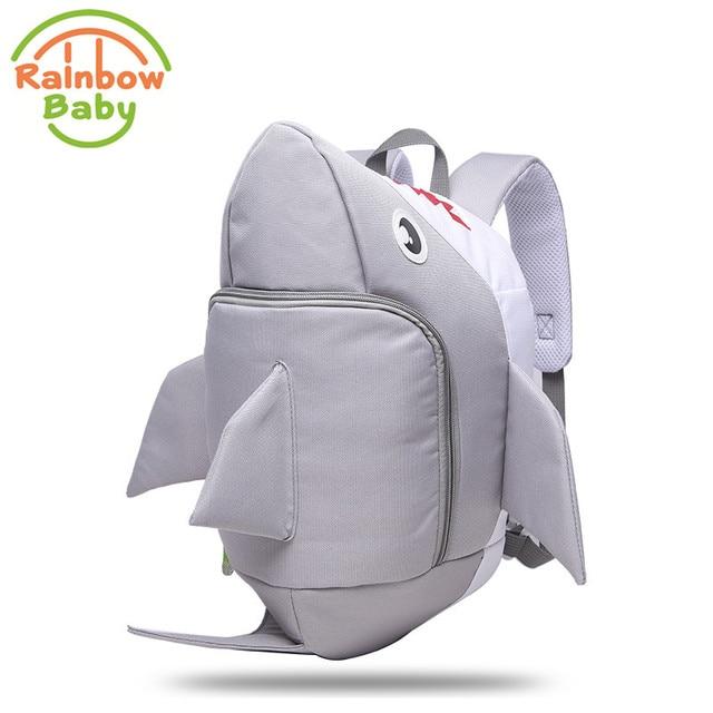 Rainbow Baby 3D Model Shark Kids & Babys Bags Anti Lost School Bags for 2-8 Years Boys and Girls Bagpack Waterproof Backpack