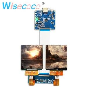 Ekran DIY VR z 90hz podwójnym 3.81 calowym wyświetlaczem oled 1080p z hdmi do mipi płyta sterownicza do projektora HMD vr szklany zestaw do wirtualnej rzeczywistości
