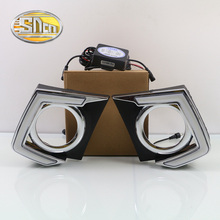 For Mitsubishi Triton L200 2015 2016,Dimming Style Relay Waterproof 12V Chromed Cover Car LED DRL Daytime Running Light SNCN
