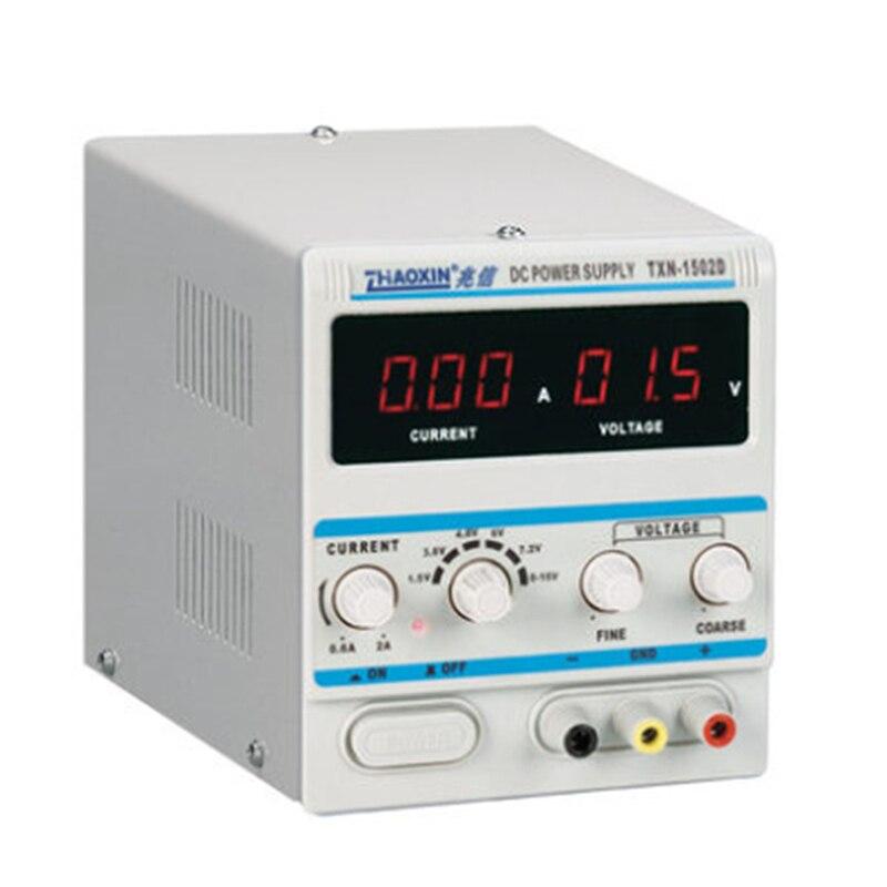 ZHAOXIN TXN-1502D Регулируемый DC ПИТАНИЕ 15 В в 2A мощность кабель цифровой мобильный телефон ремонт мощность