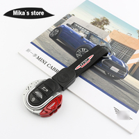 ABS JCW Style Car Key Protective Cover Fob Case Key Chain For mini cooper F54 F55 F56 F57 F60 Car styling Key Cover JCW Pattern