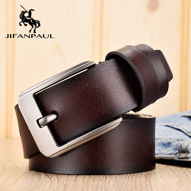 Belt High-Quality Luxury Pin-Buckle-Belt Men's Fashion Long 90-125cm Paragraph