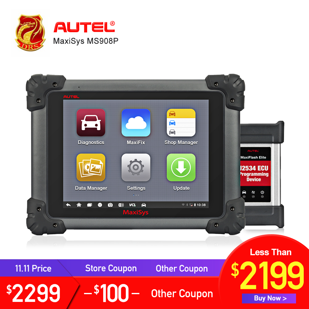 AUTEL MaxiSys Pro MS908P Diagnostic Tool ECU Programmer J2534 reprogramming box Bluetooth WiFi Full System OBD OBD2 Car Scanner autel maxisys elite car diagnosis j2534 ecu programing tool faster than ms908p 908 pro free update 2 years on autel website