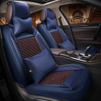 Natural wooden beads car seat cover massage cushion luxury leather car seat car styling For Renault Scenic Fluence Latitud Koleo