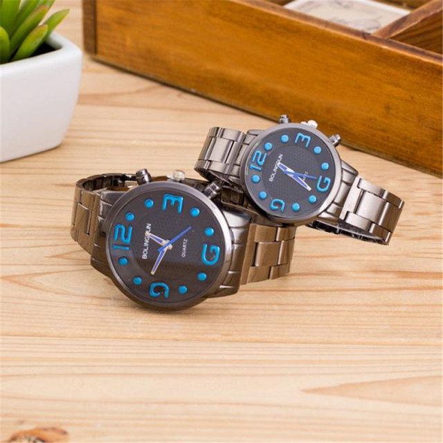 Couple Watches Fashion 2018 Lovers  Watch Single Quartz Stainless Steel Wrist Watches Retro Simple Strip Couple Dropshipping