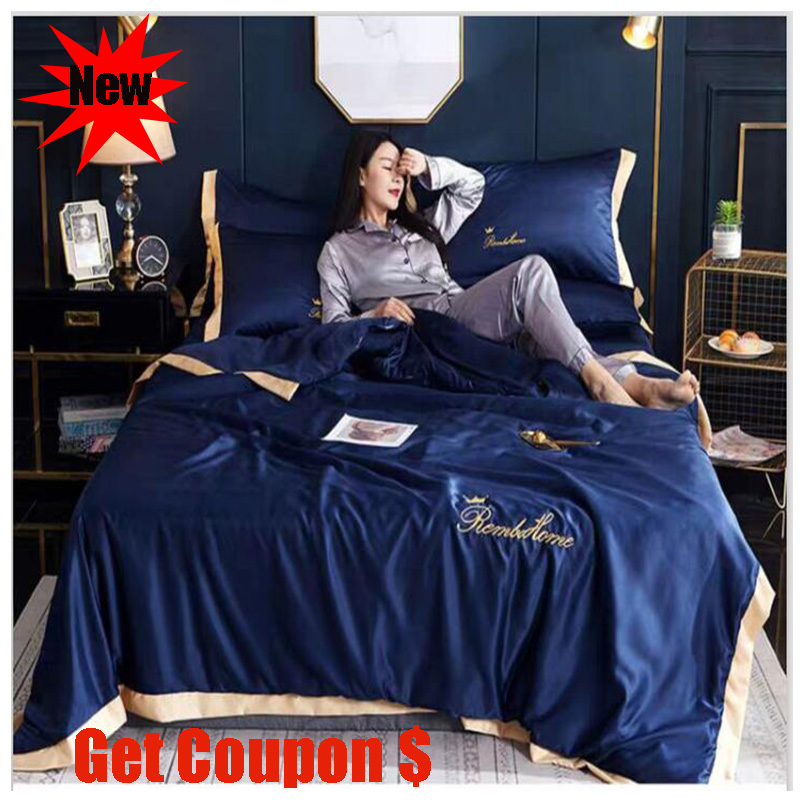 Light extravagant washed silk summer quilt sets single pc air conditioner 3 or 4pcs pillowcase bed sheet