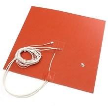 1 шт. оранжевый 30×30 см 750 Вт 220 В Силиконовый обогреватель кровать pad Термистор для 3D-принтеры