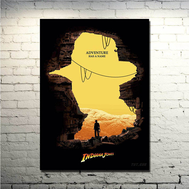Indiana Jones Fan Art Print Silk POSTER 13×18 inches Picture for Wall Decor (NEW)
