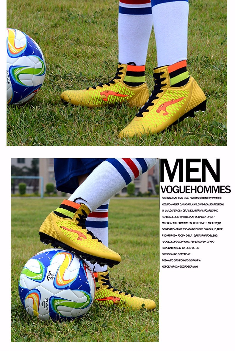 High Ankle Football Boots Kids Soccer Cleats Teenagers Outdoor AG Training Sneakers Botines Botas Futbol 2017 Superfly Original 5