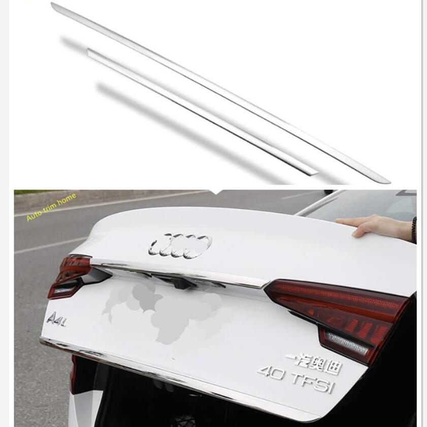 Lapetus Rear Trunk Tail Door & Upper Tailgate Door Strip Streamer Cover Trim Fit For Audi A4 B9 Sedan 2016 2017 2018 2019 image
