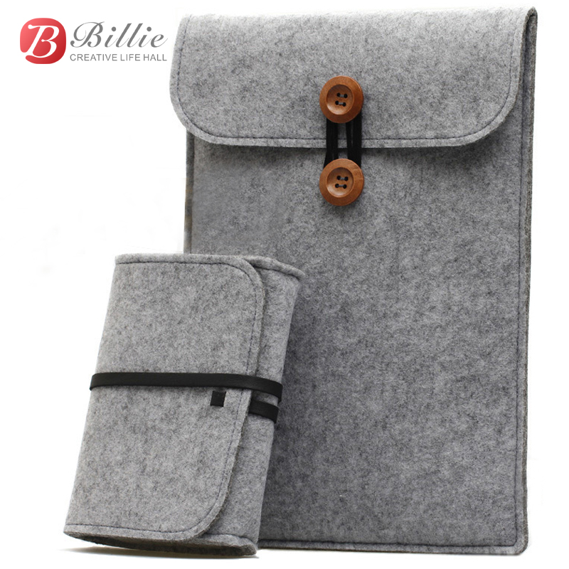 Newest ! Wool Felt for macbook 111213 Laptop Sleeve Pouch For Macbook Air/Pro/Retina Ultrabook Cover Case Notebook Inner Bag 2016 laptop sleeve bag case pouch cover for 11 13 inch macbook air 12 macbook 13 15 macbook pro retina ultrabook notebook
