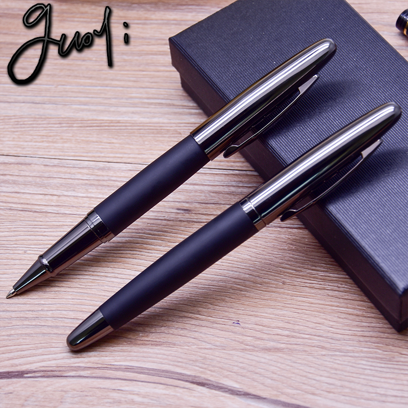 Guoyi C13 creative leather metal gel pen for school office stationery gift luxury pen hotel business ballpoint pen in Ballpoint Pens from Office School Supplies