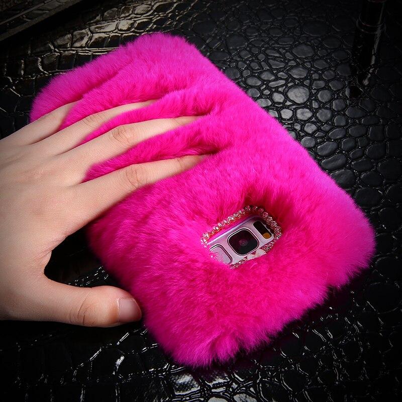 samsung s8 furry phone case