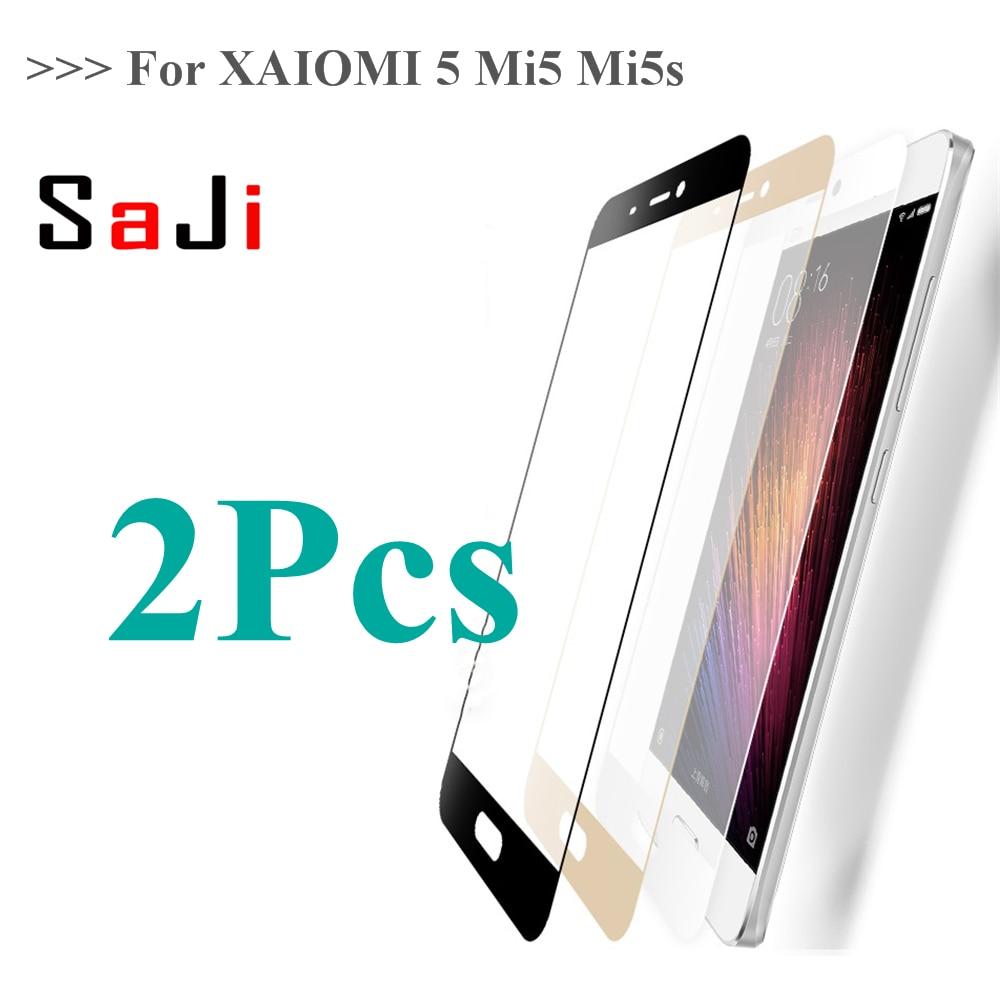 2Pcs xiaomi mi5s glass tempered full cover prime screen protector for xiaomi mi 5s 64gb Clear Full Screen mi5 s glass film 5.15