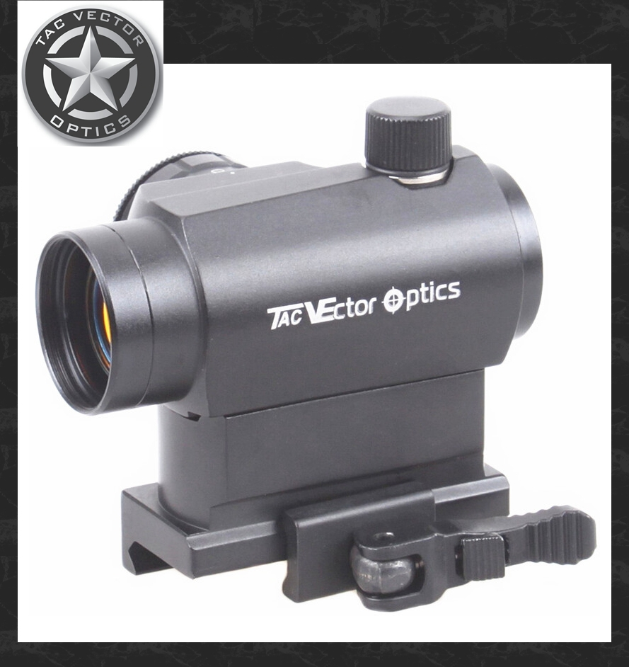 Vector Optics Compact Mini 1x22 QD Riser Reflex Red Dot Gun Sight Scope fit 12GA AK 5.56 AR .223 Picatinny Rail Free Shipping