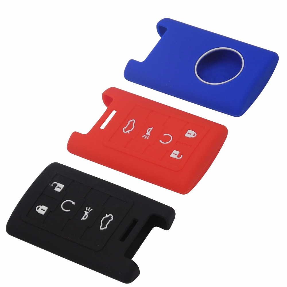 5 Buttons Car Key Silicone Cover Skin For Cadilac Ats Srx Dts Cts Sts Xts Chevrolet Smart Remote Key Case