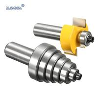 Best Price 2pcs Woodworking Router Bit With 6 Bearings Bits Set 1 2 Quot Cutting Cemented