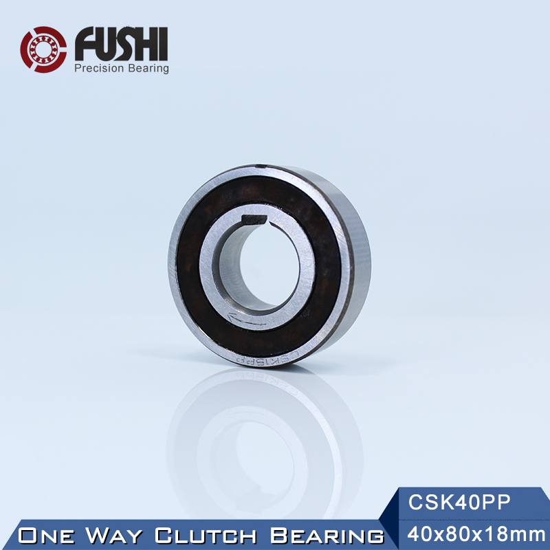 CSK40PP One Way Bearing Clutches 40*80*18mm ( 1 PC) With Keyway CSK6208PP FreeWheel Clutch Bearings CSK208PP mz15 mz17 mz20 mz30 mz35 mz40 mz45 mz50 mz60 mz70 one way clutches sprag bearings overrunning clutch cam clutch reducers clutch