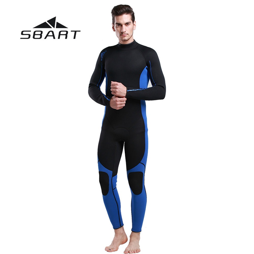 SBART 3mm Neoprene Men Wetsuit Scuba Diving Suit Fishing Kite Surfing Swimwear Full Body Swimming Snorkeling Spearfishing Suit sbart 3mm wetsuit scuba diving suit neoprene wetsuit men fishing surfing wetsuits full body one piece dive surf wet suits