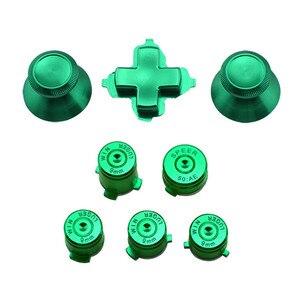Image 3 - アルミニウム金属サムスティックジョイスティックアナログキャップ弾丸 ABXY ガイドボタン D パッド Dpad ボタン Xbox 1 コントローラの交換