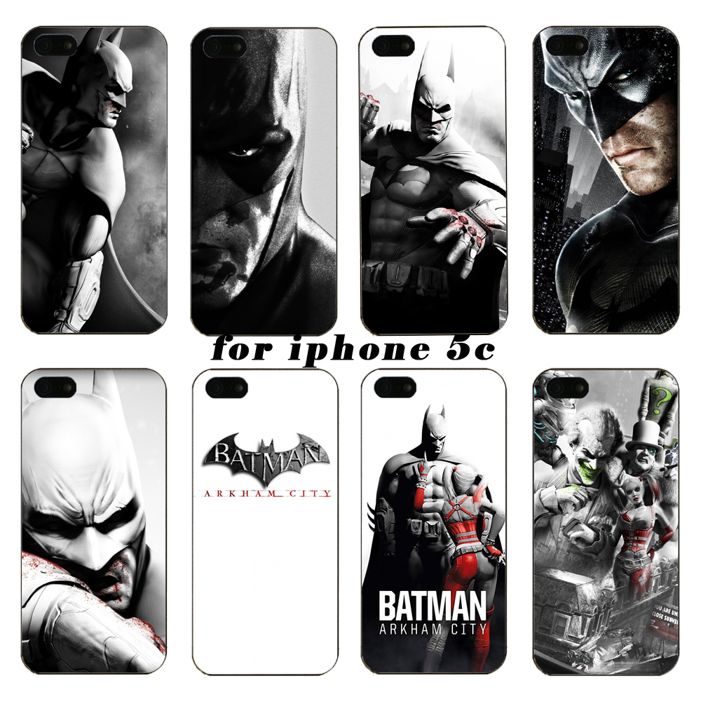 Latest fashion phone shell Batman series on case for iphone 5c, free shipping on every purchase them