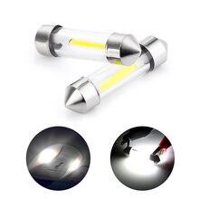 Lâmpada led para interior, 5 peças c5w 12v festoon 31mm 36mm 39mm 41mm c10w c5w luz automática de led smd 6000k branca c5w para estilizar o carro