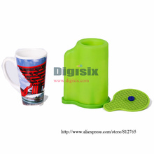 Cone Mug Heat Press Mug Clamps For ST 1520 3D Sublimation Machine The Thermostability Rubber Mug