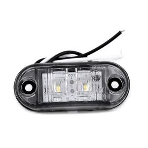 Image 4 - 2Pcs White 12V LED Car Side Marker Tail Light 24V Trailer Truck Lamp 66*28*18mm High Quality Auto Side Marker Lights Accessories