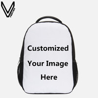 VEEVANV Unique Personalized Cusomized School Bags 3D Printing Laptop Backpack Men's Travel Bag Rucksack Mochilas Custom Backpack